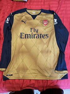 Arsenal away shirt Jersey 2015/16 Mens XL Alexis Sanchez Long Sleeve LS