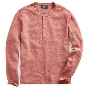 RRL Ralph Lauren Cotton Henley Thermal Shirt-MEN- L