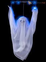Floating LED Ghost Prop + Sound Halloween House Party Decoration Light Up Horror