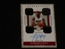 JERMAINE O'NEAL 2017-18 PANINI CORNERSTONES SIGNED AUTOGRAPHED GAME JERSEY CARD
