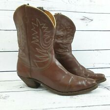 Womens Vintage Brown Leather Cowboy Boots UK Size 7.5 US Size 8 EU Size 41