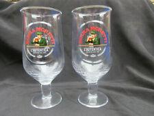 More details for  2 birra moretti genuine  stunning pint glasses  official .brand new