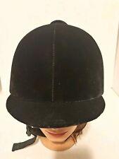 Lexington Safety Products Black Velvet Riding Helmet Size 7 1/8