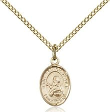 14KT Gold Filled Saint Francis Xavier Charm Medal, 1/2 Inch
