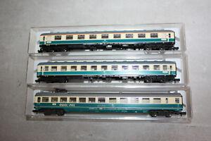 Fleischmann 3x Schnellzugwagen 8191 8192 8193 alle mit Innenbeleuchtung und OVP