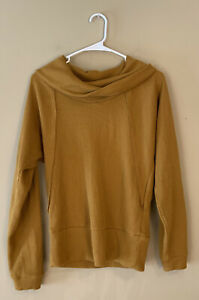 NWT! Anthropologie pilcro mustard waffle cowl neck size XS