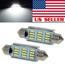 2x Bright White 12 Smd Canbus Error Free 42mm Led Interior Map Lights Bulbs