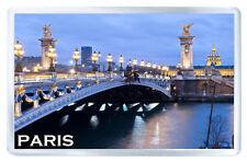 PARIS ALEXANDRE BRIDGE FRIDGE MAGNET SOUVENIR IMAN NEVERA