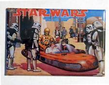 """Vintage STAR WARS Movie  Lunchbox 2"""" x 3"""" Fridge MAGNET"""