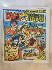 EAGLE & TIGER -  DAN DARE NO. 168 8 JUNE 1985 COMES WITH A BADGE