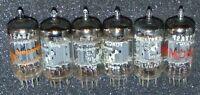 6 PIECES EXCELLENT AMPEREX VINTAGE HOLLAND MADE 12AX7 ECC83 / 12AU7 ECC82 TUBES