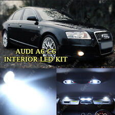 AUDI A6 C6 2005-2011 INTERIOR LED WHITE FULL 14 PCS ERROR FREE LIGHT KIT SET