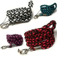 SpiriuS Lanyard Neck Strap Braided for ID badge holder with metal clip alt