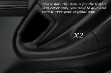 BLACK LEATHER 2X FULL DOOR HANDLE LEATHER COVERS FITS TOYOTA CELICA MK6 94-98
