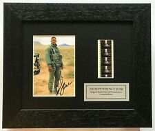 More details for independence day - will smith signed repro original filmcell memorabilia coa