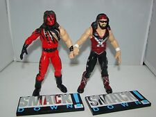 1999 WWF WWE Kane & X-Pac Smack Down Base Jakks Pacific Wrestling Action Figures