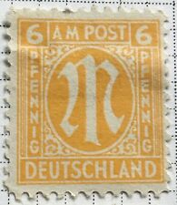 Germany stamps - Allied Military 'M' in Circle  1945 6 German reichspfennig