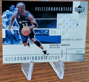 2003 MICHAEL JORDAN Upper Deck Wizards Game Used Jersey Patch UD Authentics0