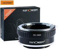 Lens Mount Adapter for Pentax K PK Mount Lens to Sony Alpha E NEX Cameras Body