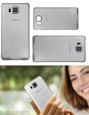 Genuine Official Samsung Galaxy Alpha Battery Back Cover Case Silver RRP £19.99