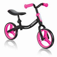 Globber GO BIKE Adjustable Balance Training Bike for Toddlers, Black & Pink