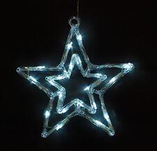 Fensterbild Fenstersilhouette Leuchtbild Weihnachtsdeko BAUM 29,5cm 20 LED weiß