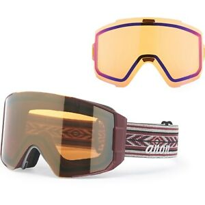 Anon Sync M-Fusion Ski Goggles - Maroon/Sonar Bronze + Extra Lens (Mens) NEW!