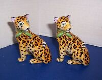 Lynn Chase Designs Jaguar Jungle Salt & Pepper Shakers w/ Stoppers Beautiful