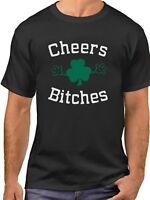 Cheers Bitches T Shirt Lucky Green Clover Tee St. Patricks Day Irish AF T-Shirt