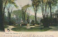 SYRACUSE NY – Fayette Park Rotograph Postcard - 1907