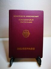 Cancelled Germany German Pre Biometric Passport Travel Document Egypt Revenue