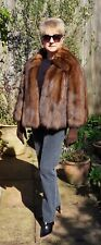 RUSSIAN SABLE  SOBEL FUR JACKET NOT MINK OR FOX