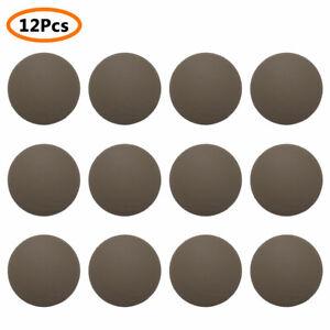 12Pcs_Rubber Viscous Door Knob Stopper Bumper Handle Guard Wall Protector Round