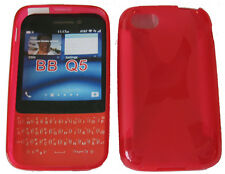 TPU Rubber Pattern Gel Soft Case Pouch Protector Cover RED For Blackberry Q5