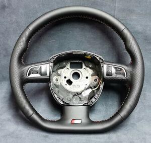 Steering wheel Audi A4 S4 B8 Flat bottom New leather