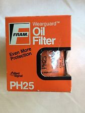 Original FRAM PH25 Wearguard Oil Filter - NEW IN BOX - fits many 60-80's GM cars