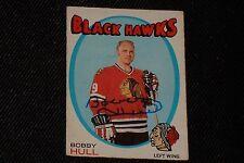 HOF BOBBY HULL 1971-72 O-PEE-CHEE SIGNED AUTOGRAPHED CARD #261 BLACK HAWKS