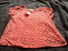 BNWT Tammy Girl Girls Coral T-shirt Age 10-11 Years 2 Part Set