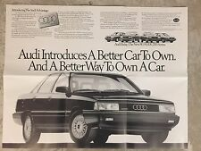 1988 Audi Full Line Showroom Advertising Sales Poster RARE!! Awesome L@@K
