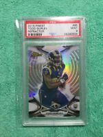 2015 TOPPS FINEST  RC REFRACTOR TODD GURLEY PSA MINT 9