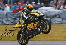 Andrea DOVIZIOSO hand signed scozzese RACING HONDA 12x8 FOTO 2004 125cc CHAMPION 1.
