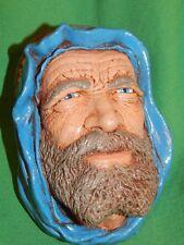 Vintage Bossons Congleton, England Arab Syrian Sheik Plaster Chalkware Bust Head