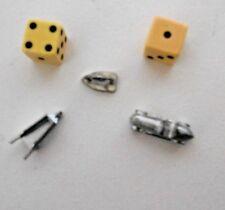 Monopoly Game Plastic Game Pieces iron, wheel barrow automobile Dice