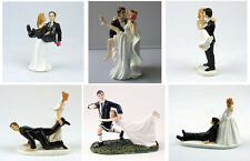 Romantic Look of Love Bride & Groom Wedding Cake Topper Funny Figurine