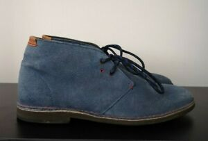 Mens Ted Baker Blue Suede Mid Casual Shoes - UK 8