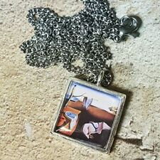 of memory Clocks surrealism Art Unique Salvador Dali Necklace persistence