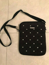 REBECCA MINKOFF Black Purse Crossbody Fits iPad 2 3 4 Case Travel Bag 3D Pyramid