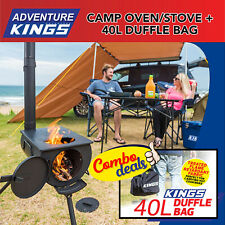 Adventure Kings Camp Oven/Stove + 40L Duffle Bag