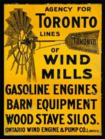 "TORONTO LINES FARMING BARN SILOS 16"" HEAVY DUTY USA MADE METAL ADVERTISING SIGN"