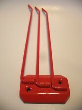 Vintage Style RED Metal TRIPLE SWINGING BAR TOWEL Holder 3-Rod /Arm Rack Kitchen